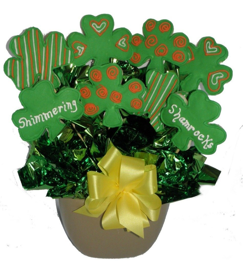 St. Patricks Day Cookie Bouquet Gift