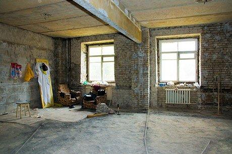 interno di uno stabile in fase di ristrutturazione