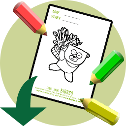Download your own organibear to colour in