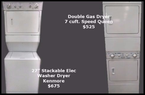 27 inch stackable washer dryer unit