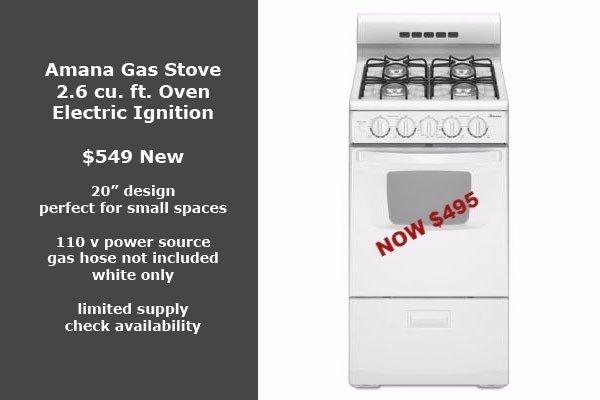 Amana 20 inch gas stove