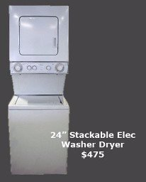 Whirlpool stackable washer dryer