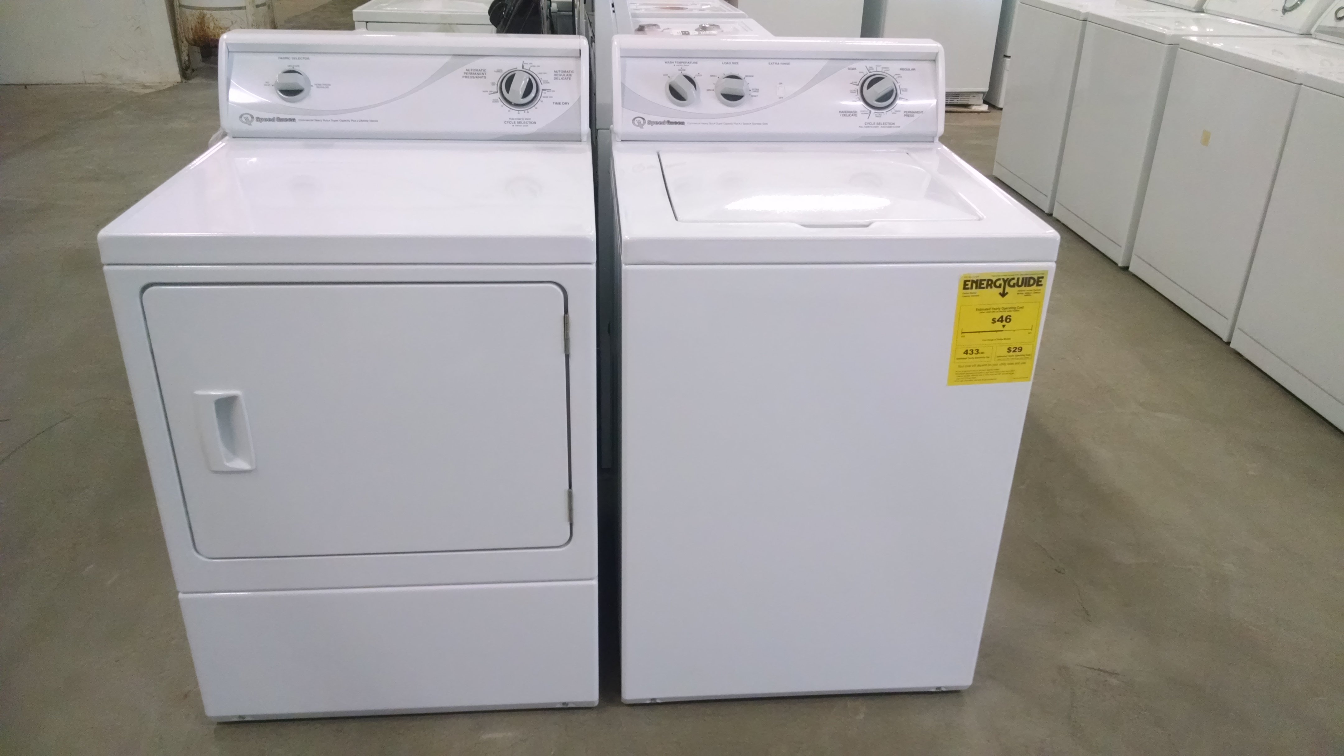 Speed Queen washer dryer set