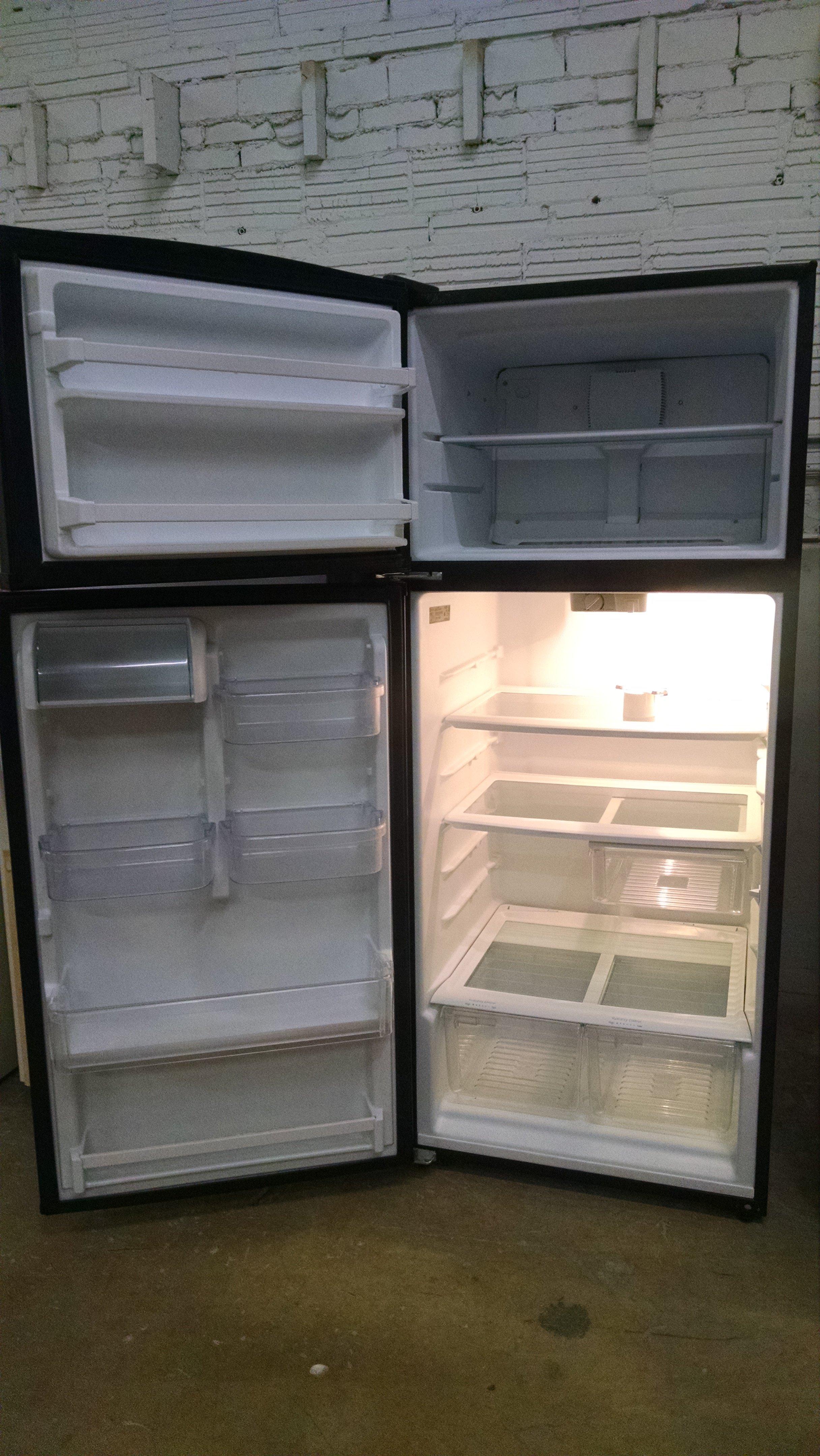 Maytag Topmount 18 cu.ft. Black Refrigerator