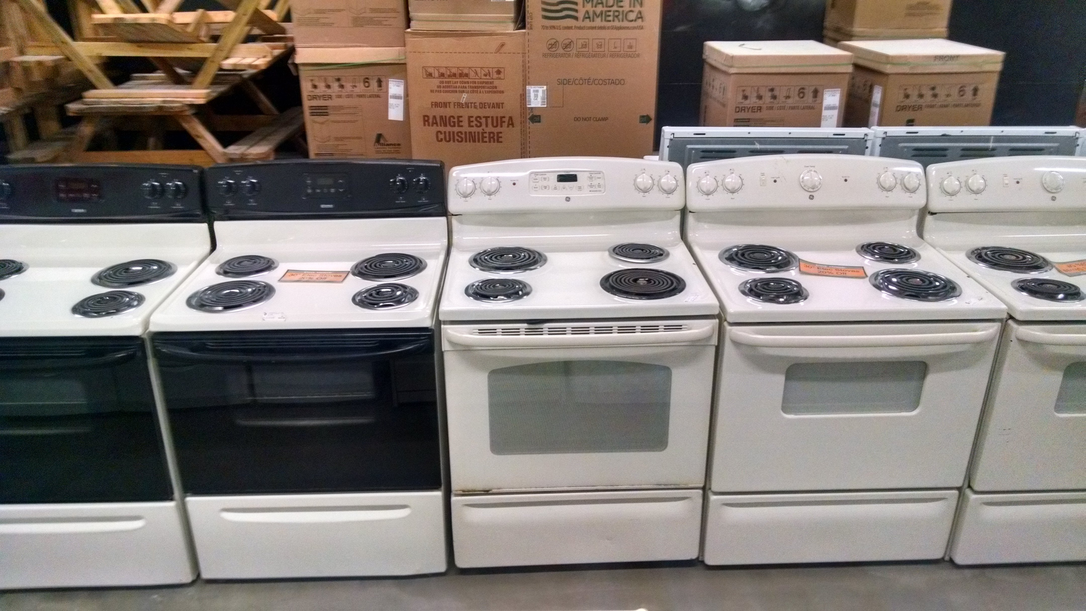 Sample of electric stoves