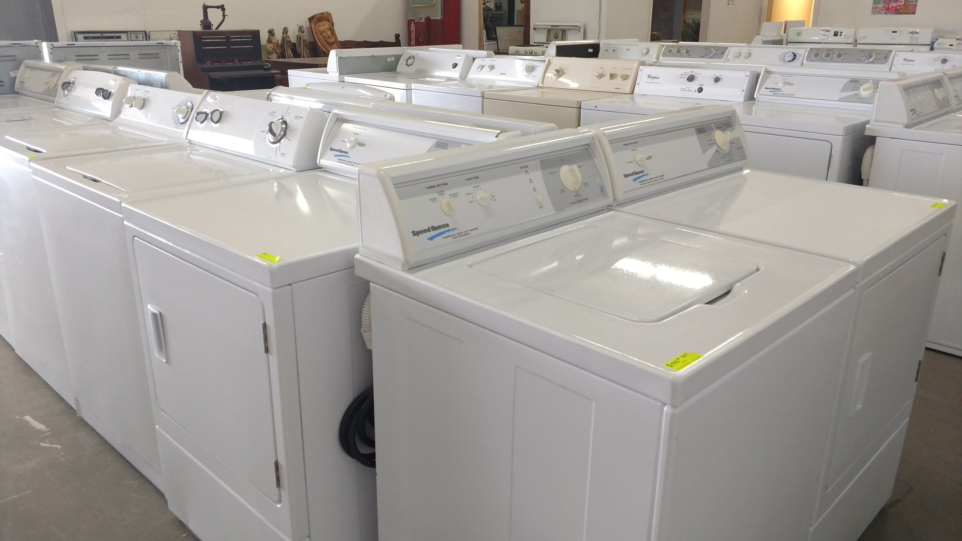 Sample of washers & dryers