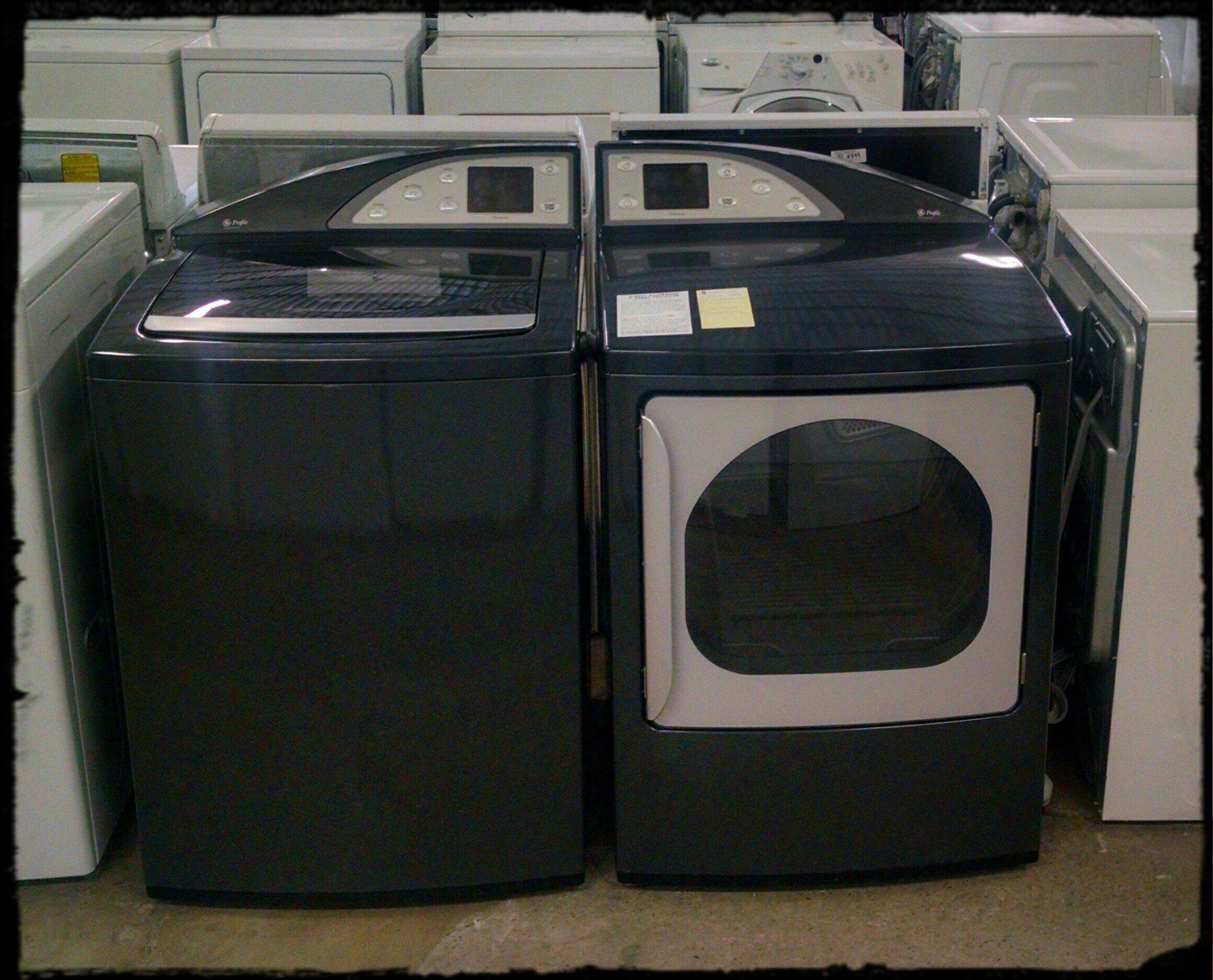GE Topload washer dryer set