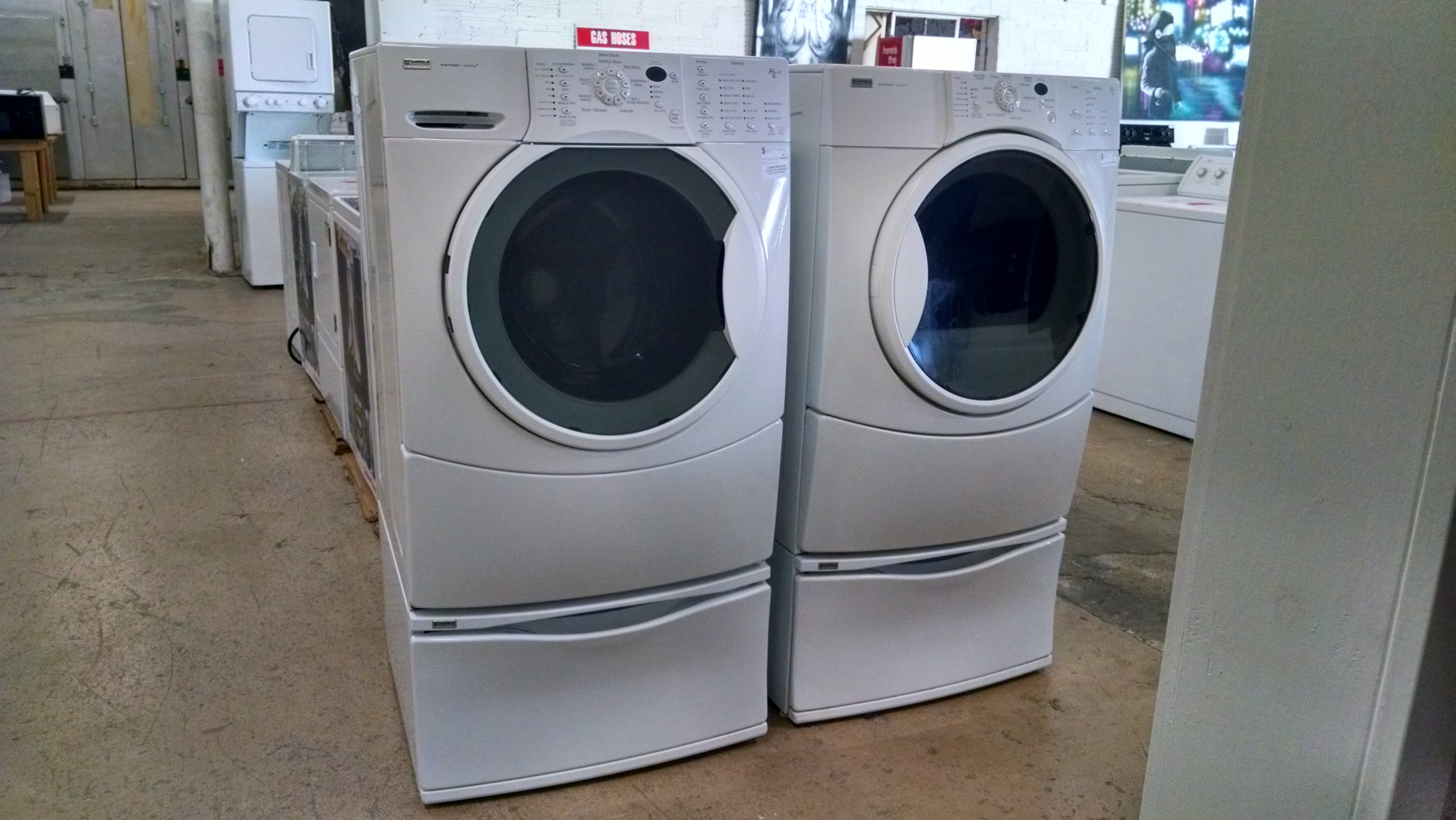 Kenmore frontload washer dryer set