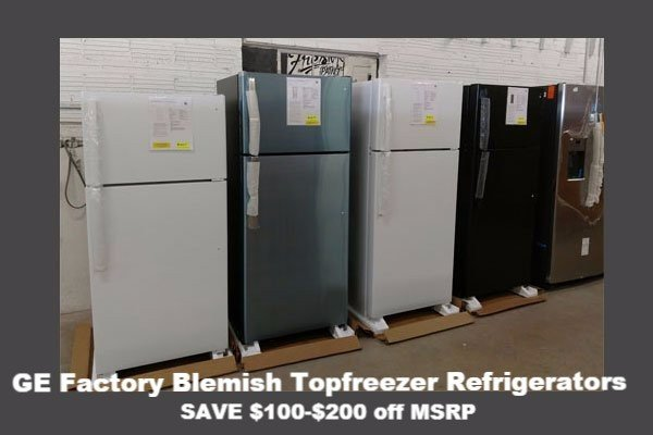 Factory Blemish Topfreezer Refrigerators available