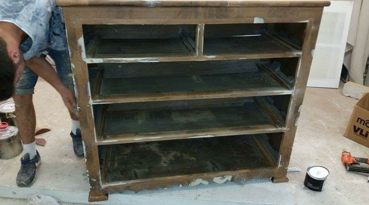 Wooden glass cabinet