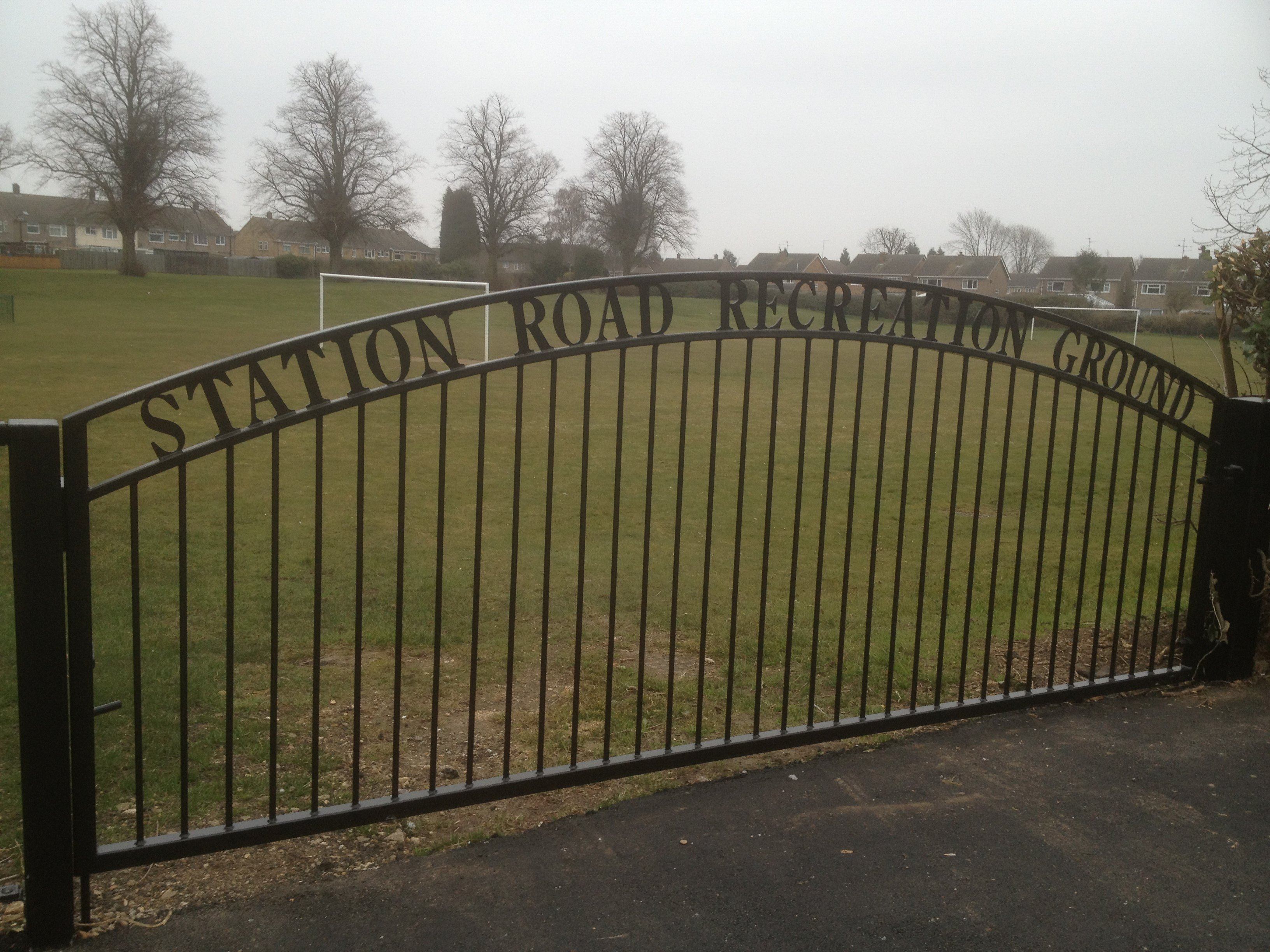 Playing field gates