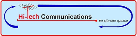 hi tech communications business logo