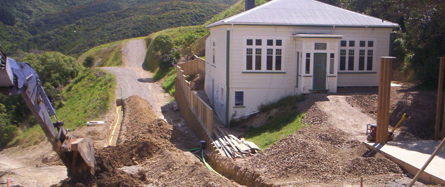 Drainage work under process
