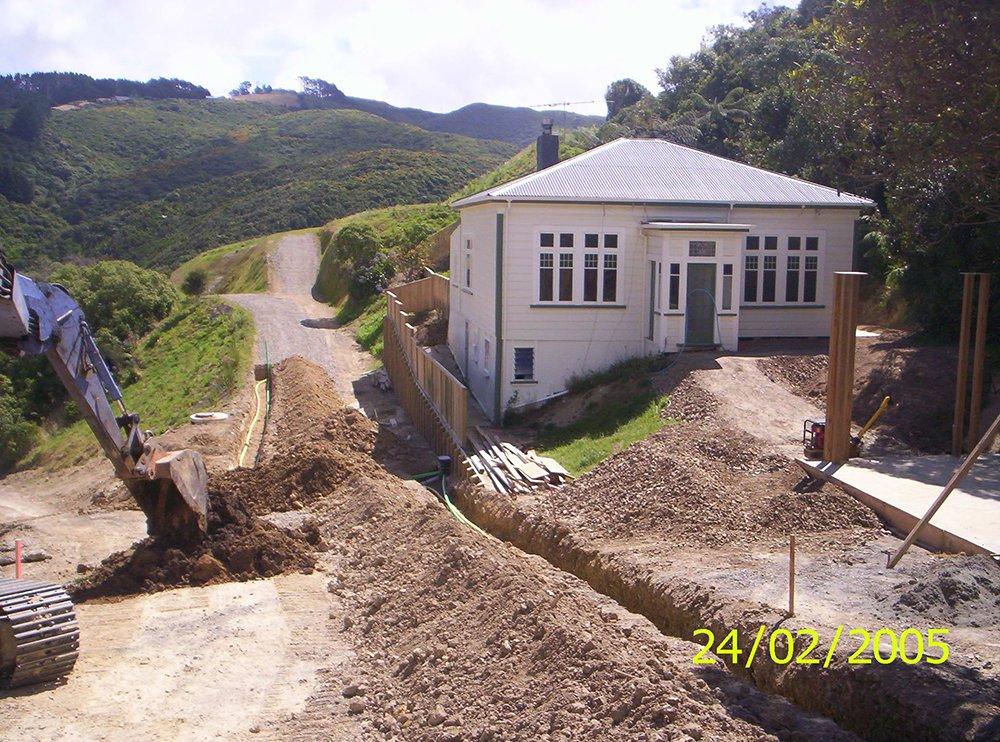 Korokoro trenches service work in progress