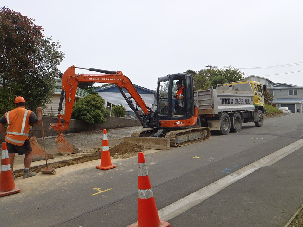 Machine being used on Woodland Road