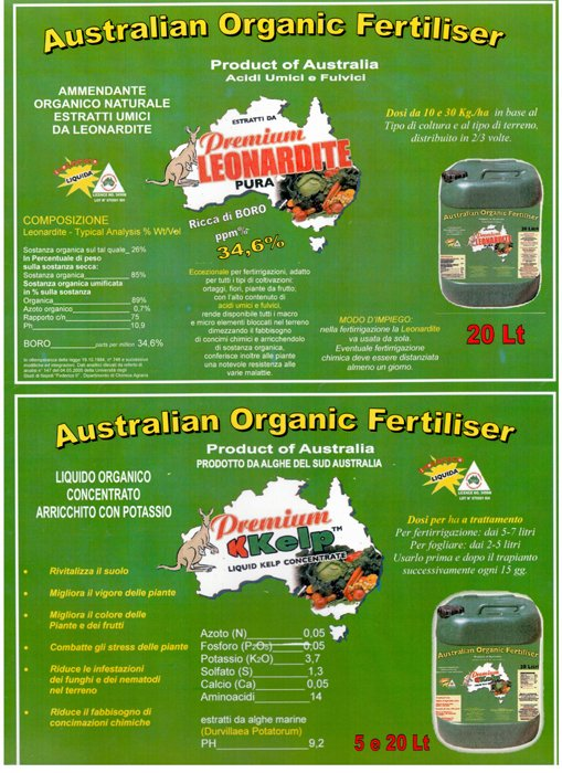 Premium leonardite pura ad Australian Organic Fertiliser Ad Avezzano