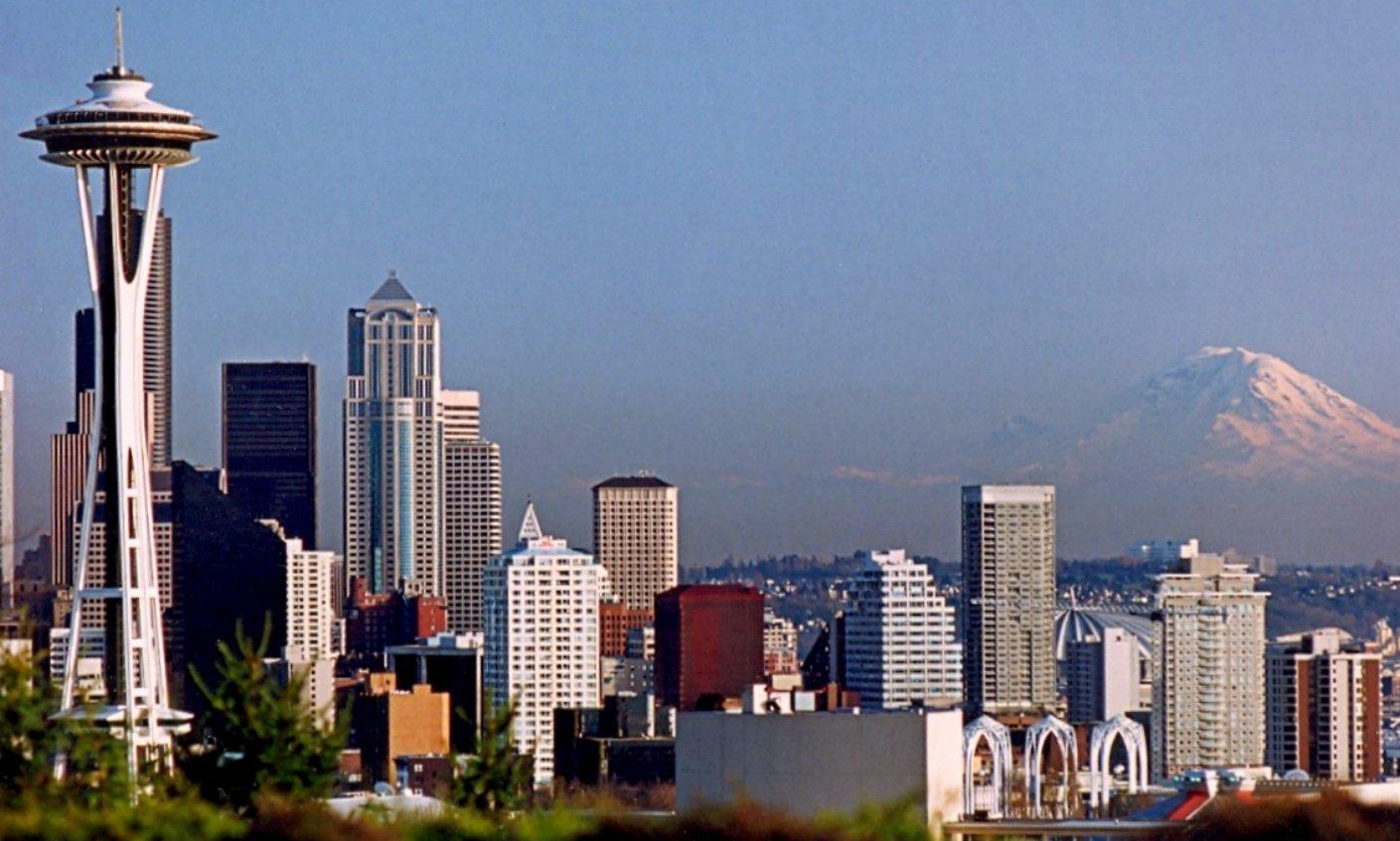 Seattle, WA Skyline with Space Needle