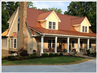 Home after roofing services in Eden, NC