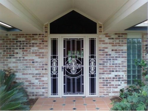 crimsafe wrought iron door