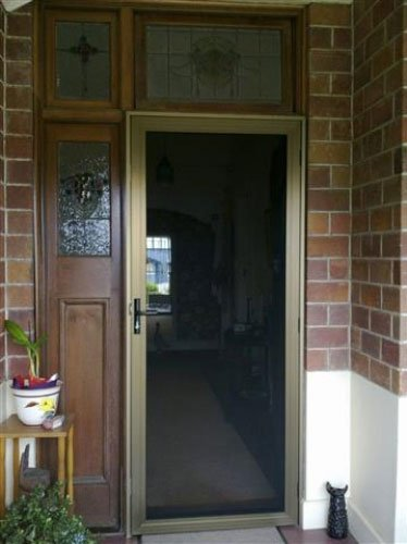 brick house crimsafe door