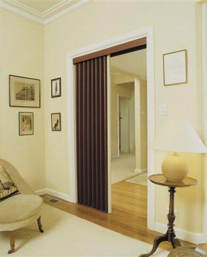 brown folding door