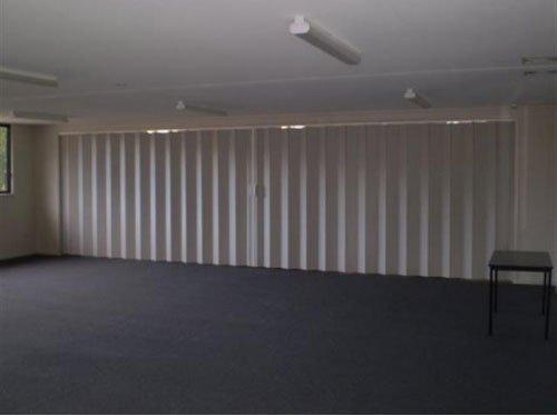 dark carpet and white door