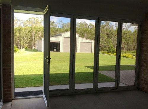 folding doors dark porch