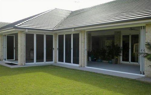partially enclosed porch