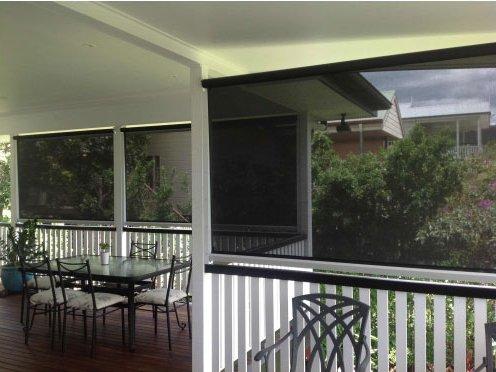 Fabric awnings, outdoor blinds, Ziptraks