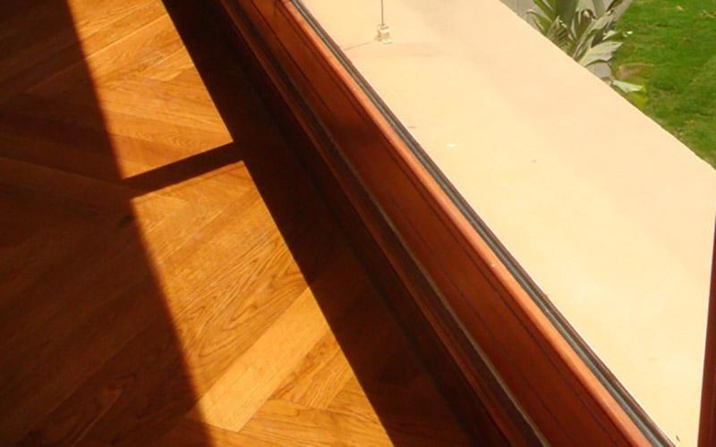 Scorrevole in alluminio legno