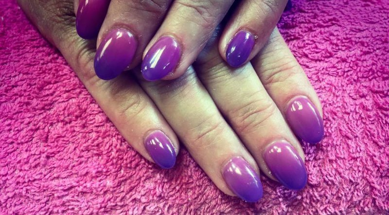 violet coloured nail polish