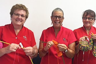 coffs medical centre senior woman knitting