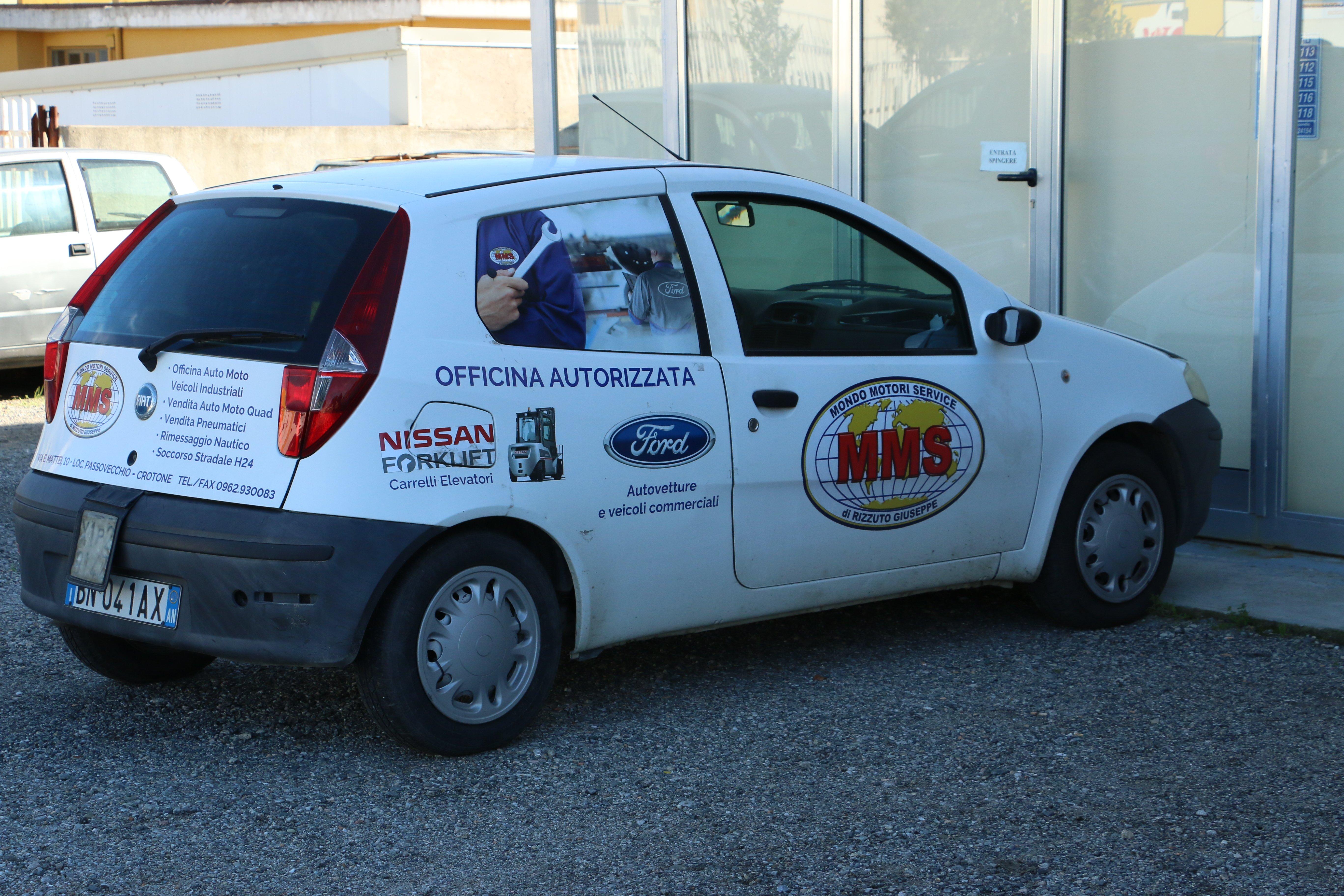 Una Punto dell'Officina di Mondo Motori Service, Rizzuto Giuseppe, a Crotone