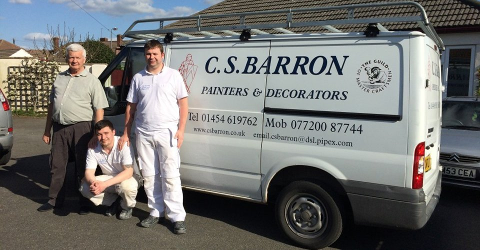 C.S Barron Team with Van