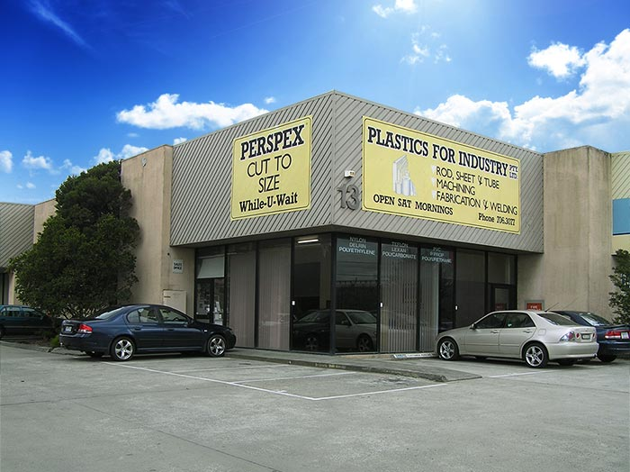 plastics for industry shop front