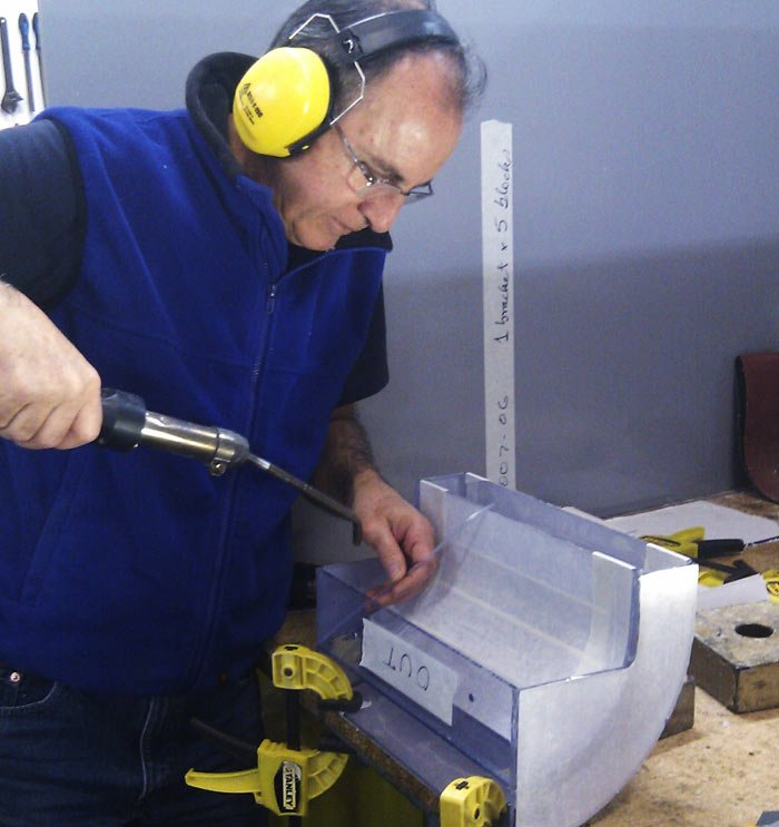 plastics for industry worker using safety equipment
