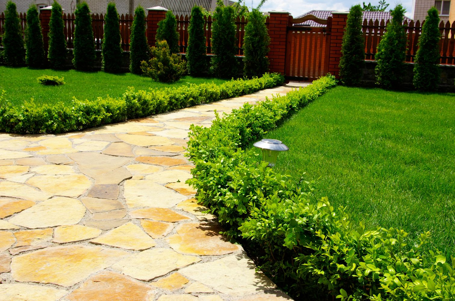 stone path installed by landscape services in Cincinnati, OH