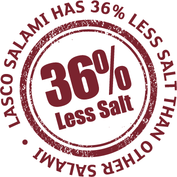 36% less salted meat product