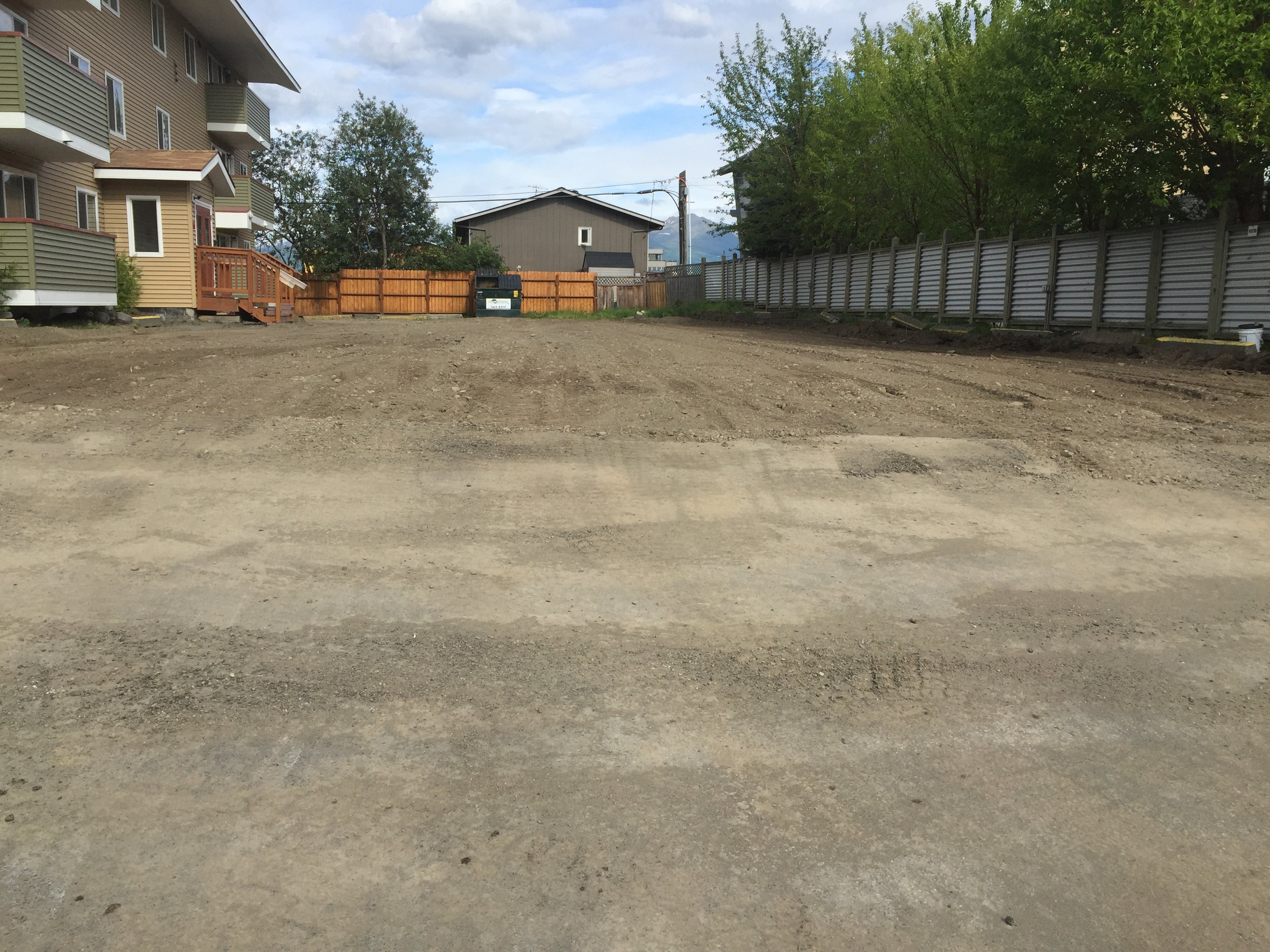 land prepared to be layerd with asphalt