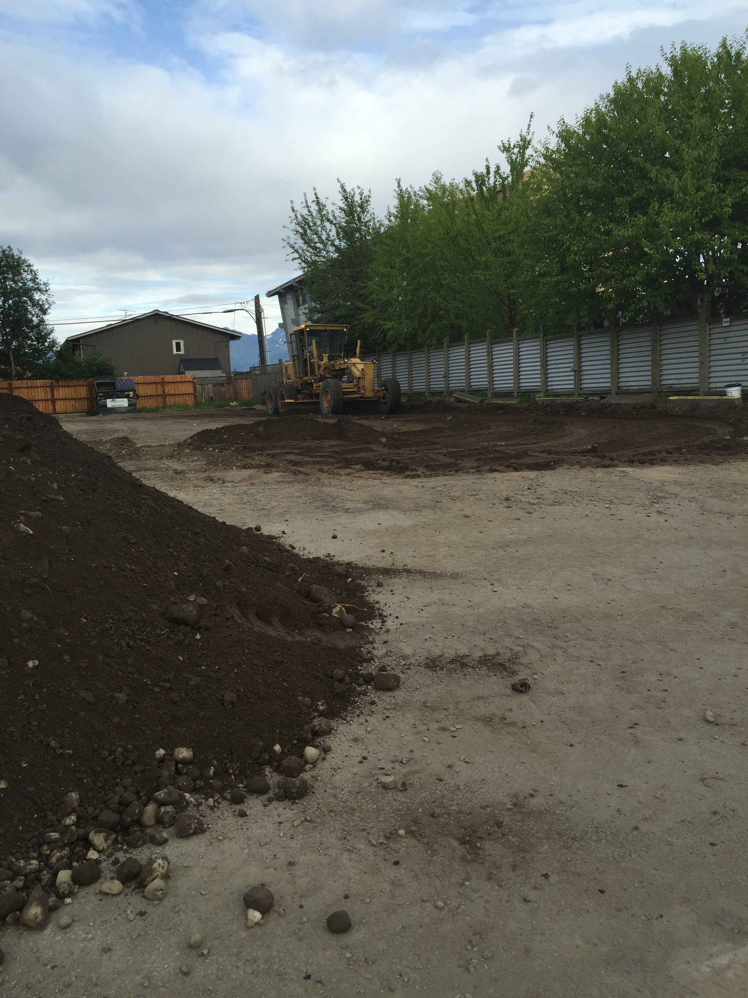 ground being prepared for paving