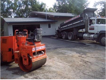 flattening asphalt