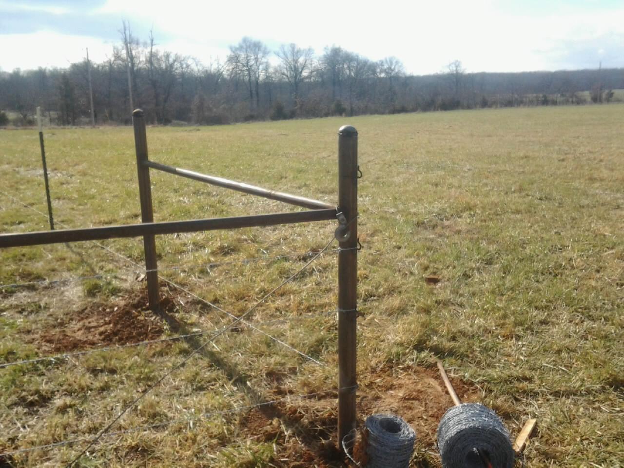 corner post of fence