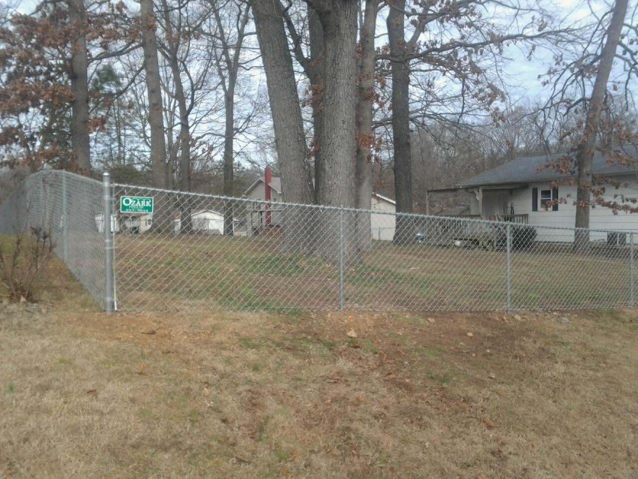 chain link fence installed by Ozark Fence, LLC