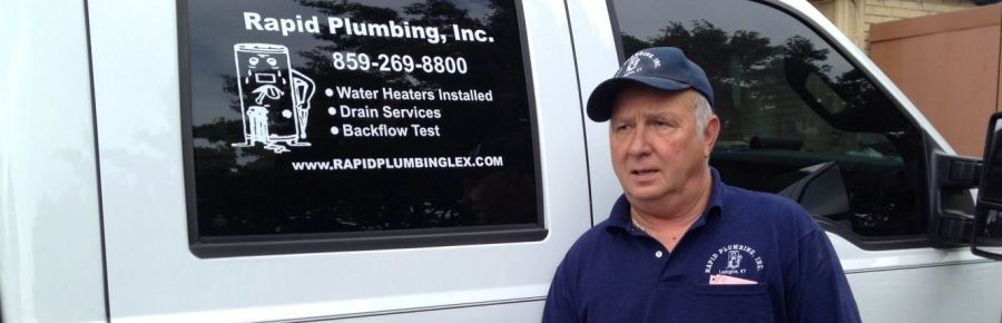 Plumber getting ready for Drain and Sewer Repairs in Lexington, KY