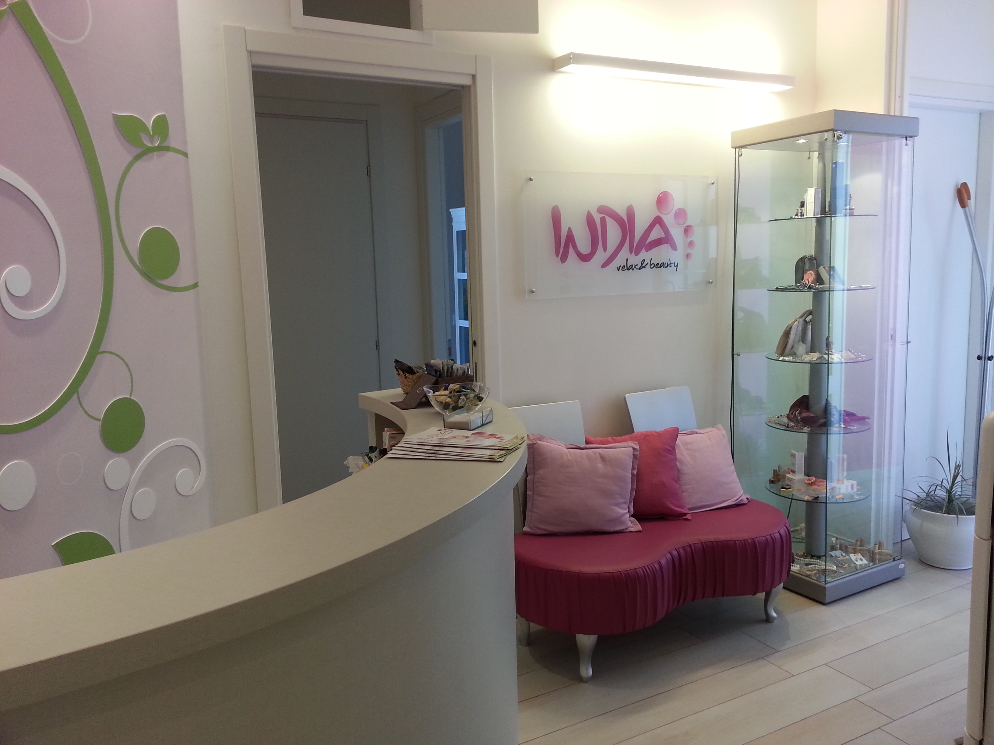Ingresso del centro Indian Relax Beauty a Rimini