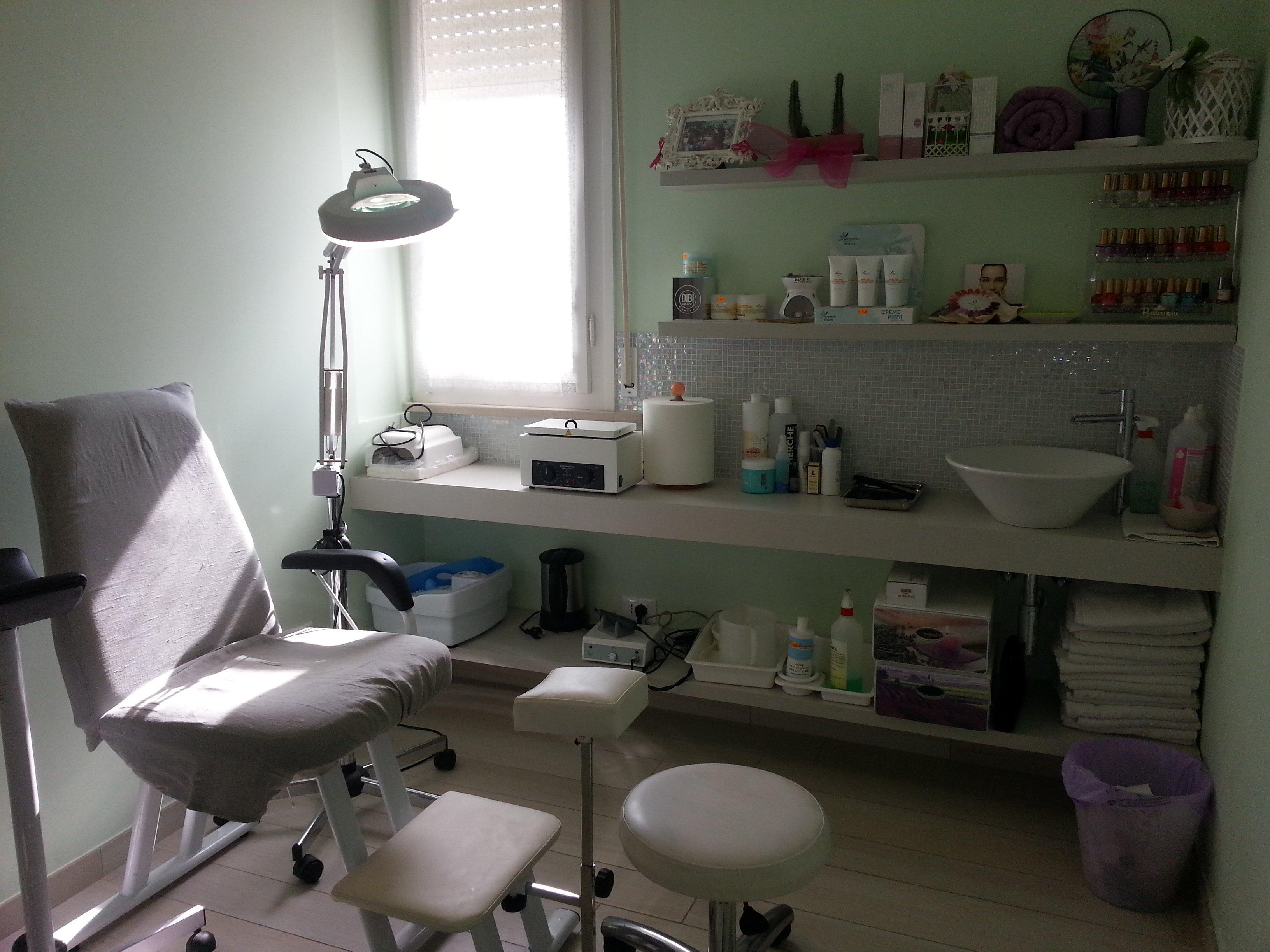 Sala trattamenti del centro Indian Relax Beauty a Rimini