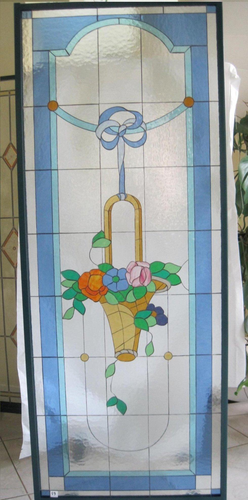 Porta con vetro Tiffany