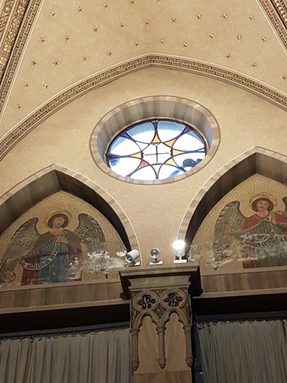 Restauro rosone Parrocchia Buon Pastore (Brescia)