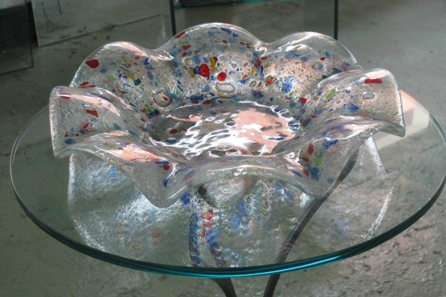 portafrutta in cristallo