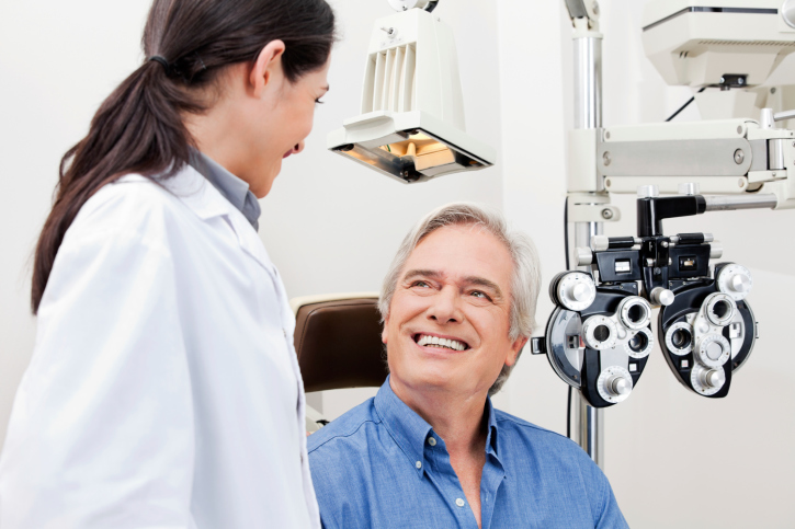 Eye Exam equipment and doctor